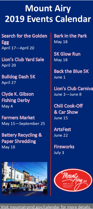 Annual Events Rack Card