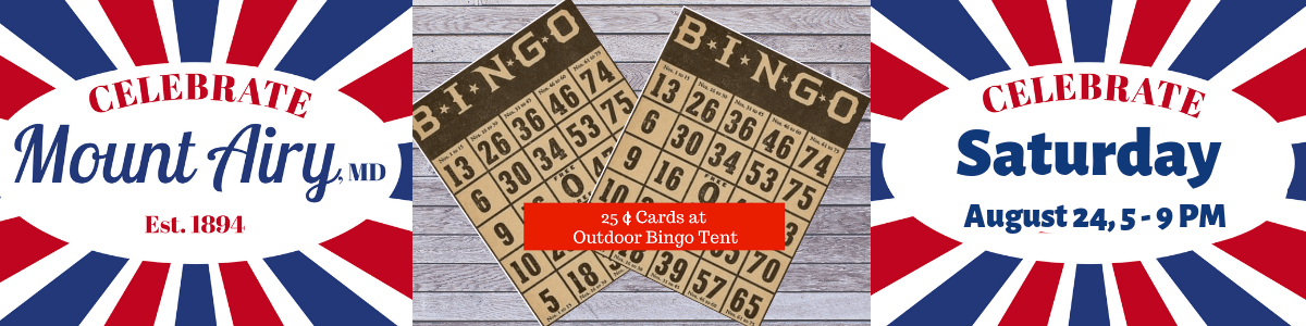 celebrate slideshow  BINGO Tent
