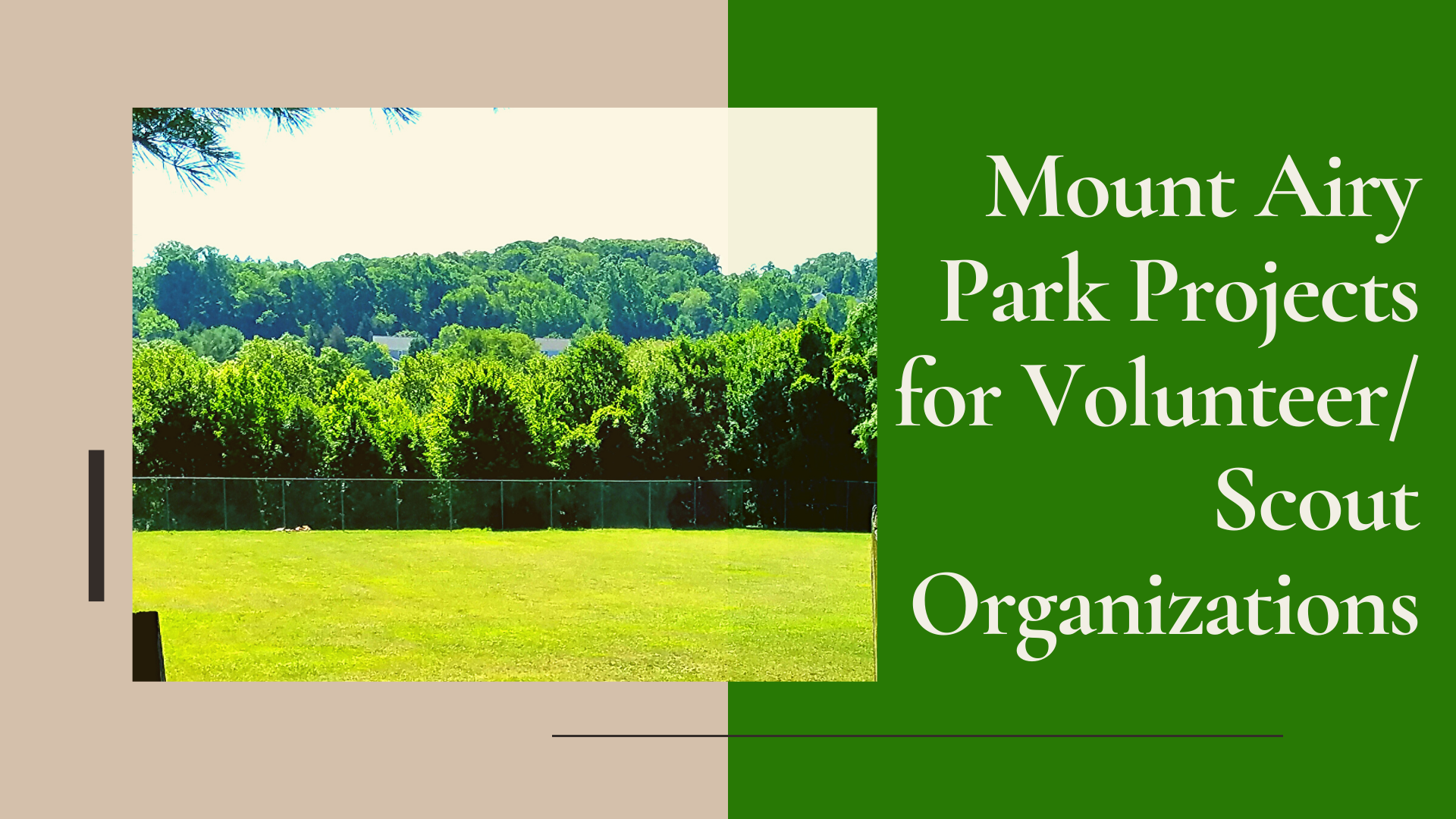 Park Projects for Volunteers