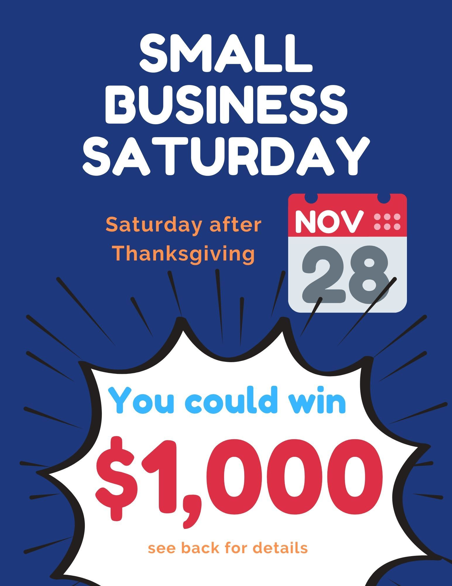 Small business Saturday 4-up 2020 front