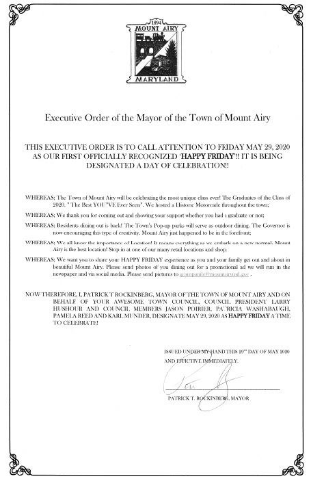 Executive Order of the Mayor